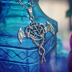 Jewelry - Black Butler Dragons Pentagram Necklace